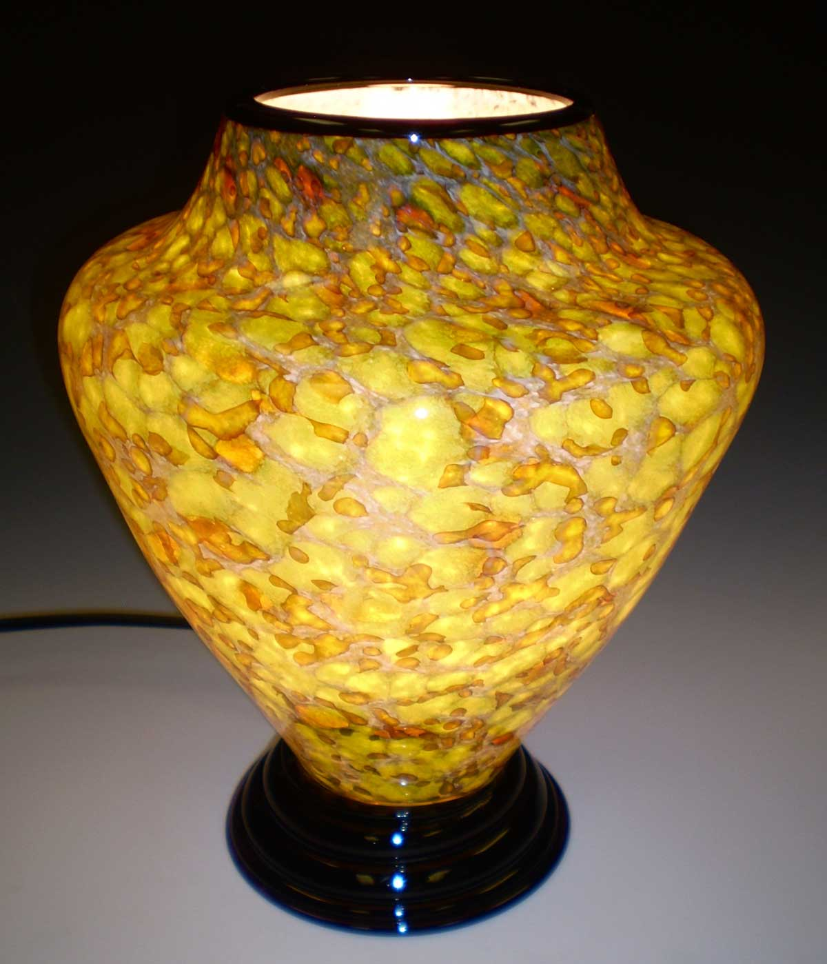 Lime Green and Gold Lamp - Eclipse Gallery
