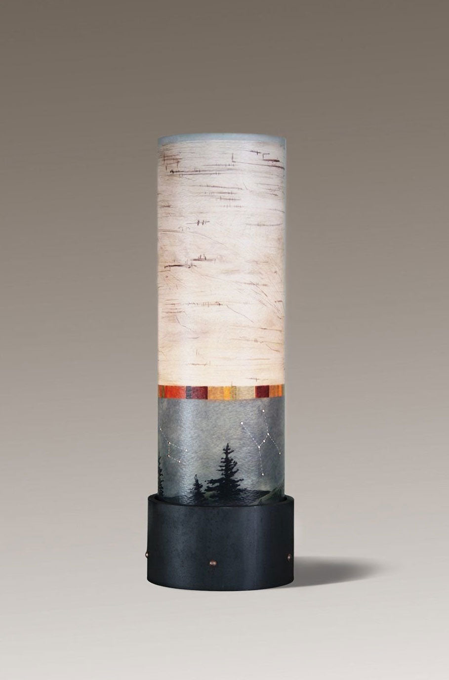 Luminaire Table Lamp with Birch Midnight Shade - Eclipse Gallery