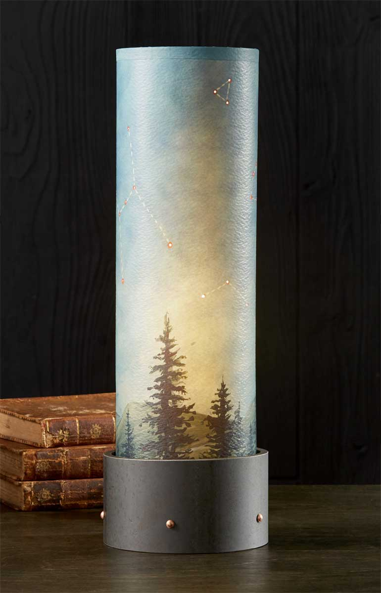 Luminaire Table Lamp with Tube Shade in Midnight Sky - Eclipse Gallery