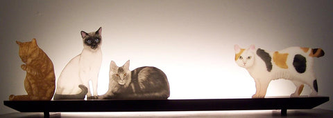 Animal Glasscapes: Mere Cats - Eclipse Gallery