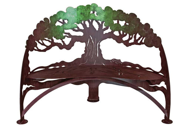 Metal-Garden-Tree-Bench-Color-Shift-Paint-Cricket-Forge-Eclipse-Gallery