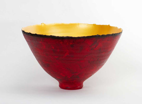 Painterly-Red-Gold-Prosperity-Bowl-Cheryl-Williams-Eclipse-Gallery
