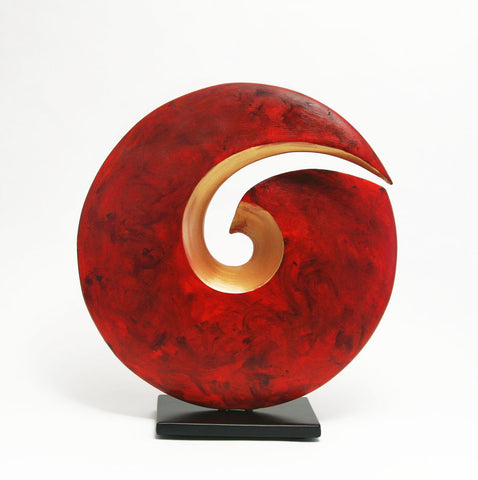 Red Spiral Sculpture