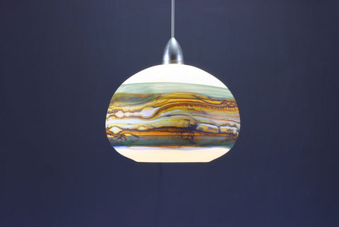 Round-Strata-Pendant-in-White-Opal-with-Sage-on-Danielle-Blade-and-Stephen-Gartner-Eclipse-Gallery