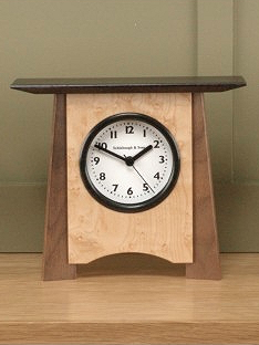 Veneer Shelf Clock
