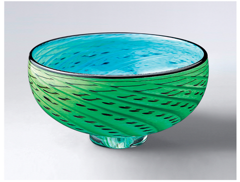 Storm Bowl: Green & Turquoise