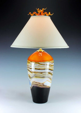 Tangerine-Strata-Table-Lamp-Danielle-Blade-and-Stephen-Gartner-Eclipse-Gallery