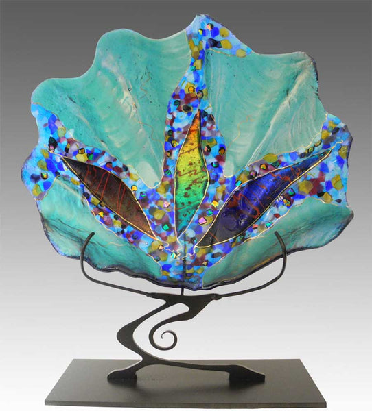 Teal Shell Sculpture