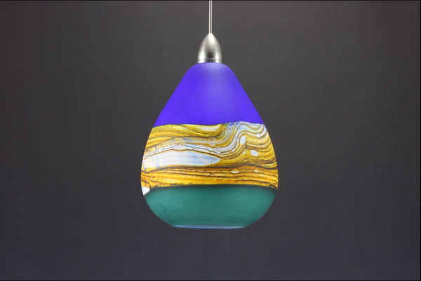 Teardrop-Strata-Pendant-in-Cobalt-&-Sage-off-Danielle-Blade-and-Stephen-Gartner-Eclipse-Gallery