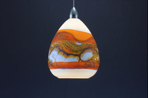 Teardrop-Strata-Pendant-in-White-Opal-with-Tangerine-on-Danielle-Blade-and-Stephen-Gartner-Eclipse-Gallery