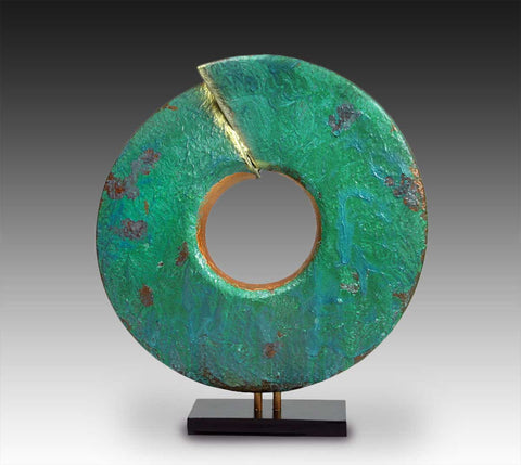 Wisdom-with-Green-Patina-Sculpture-Cheryl-Williams-Eclipse-Gallery