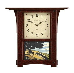 Arts and Crafts Tile Wall Clock with 8x6 tile