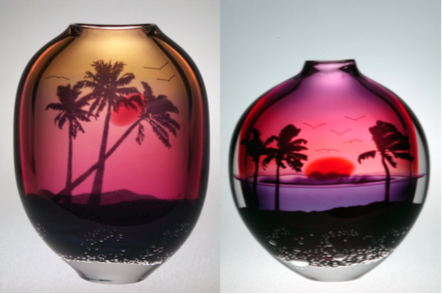Sunset Graal Vases