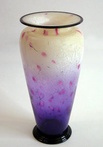 Purple Powder Blown Glass Vase