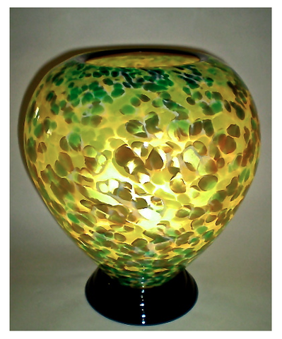 Blown Glass Lamp -Green/Brown
