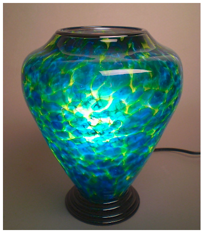 Blue & Yellow Table Lamp