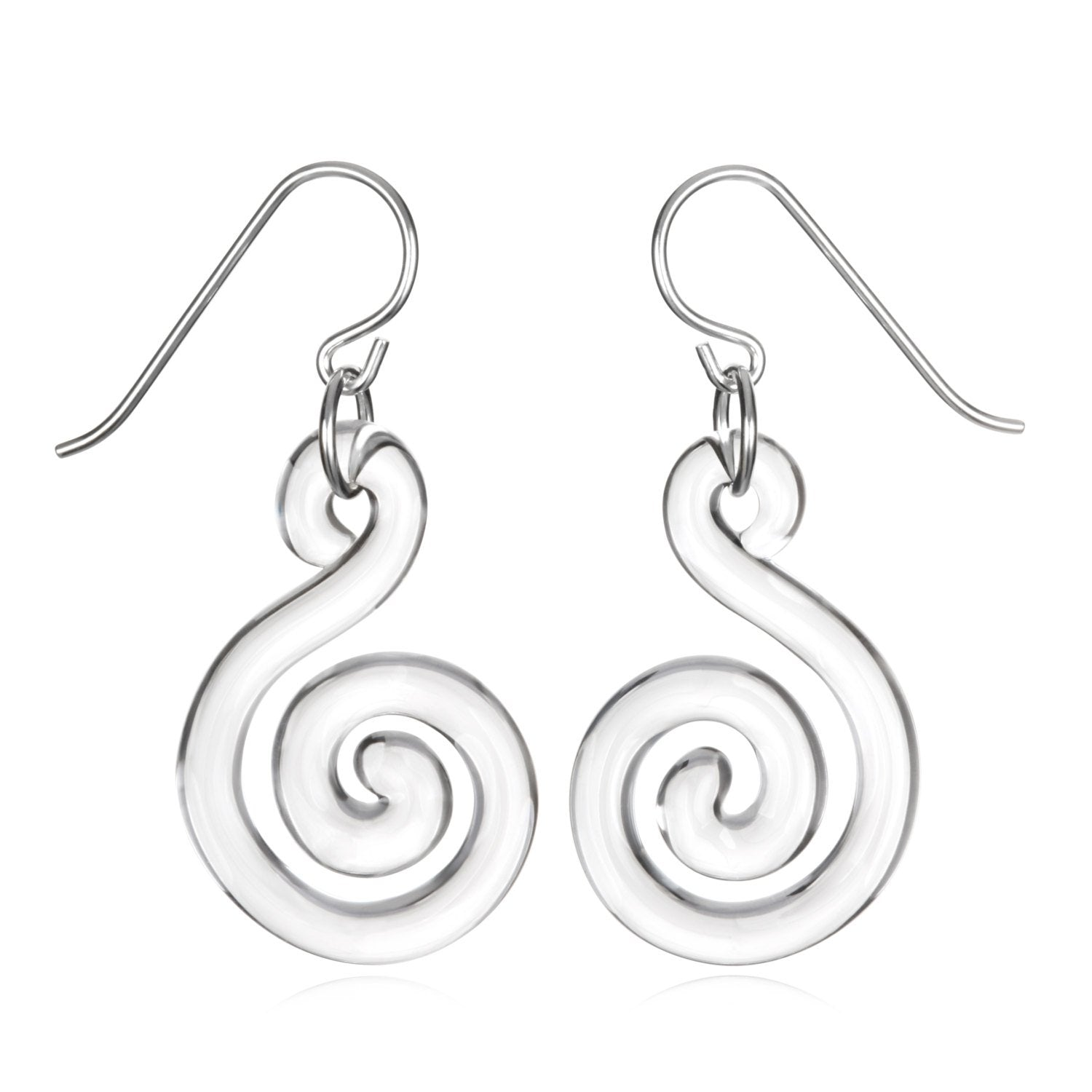 Glass Small Flat Spiral Earrings - Eclipse Gallery