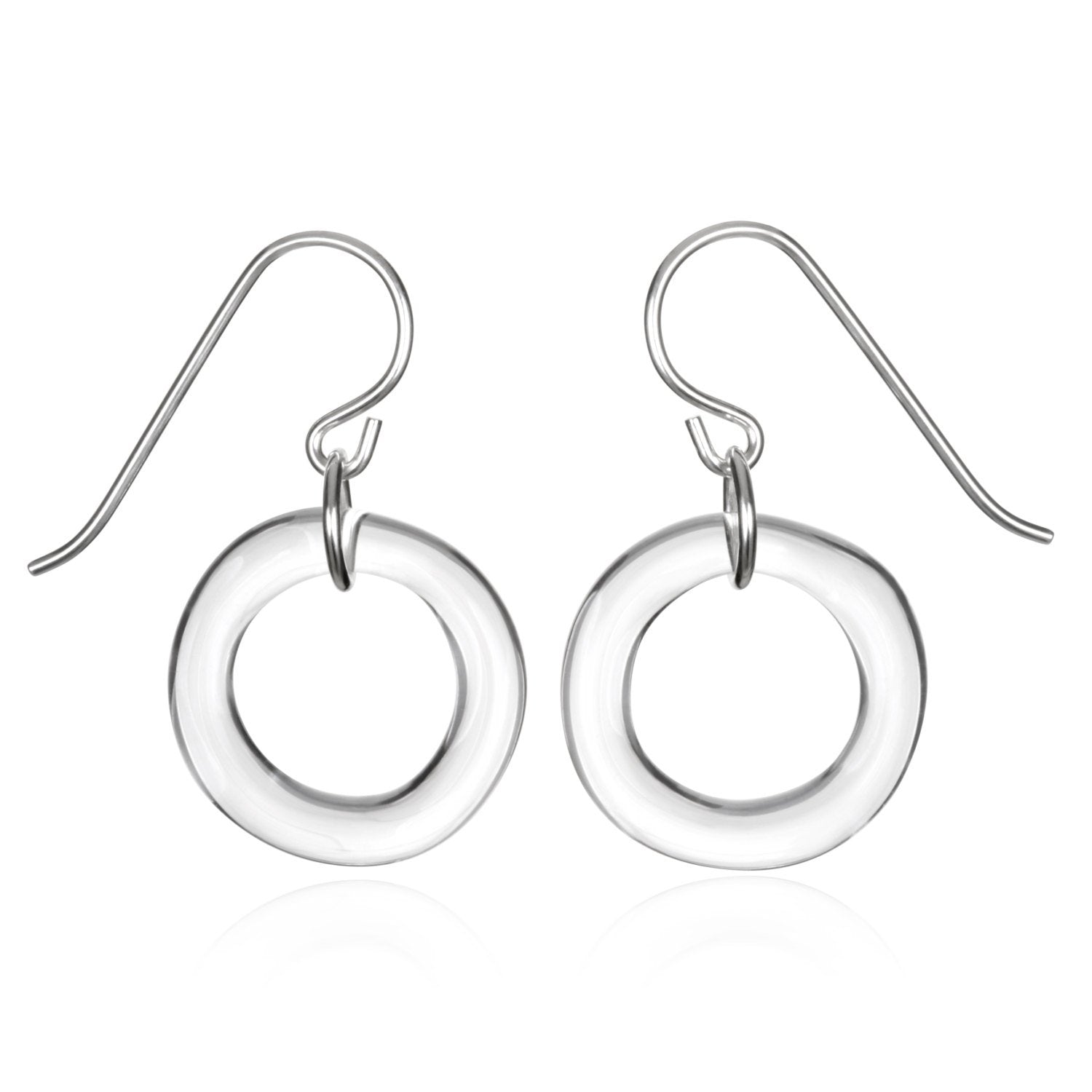 Glass Single Circle Earrings - Eclipse Gallery