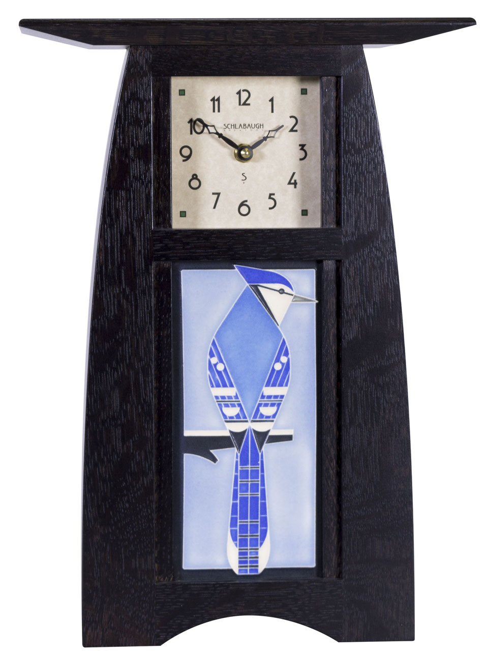 Arts & Crafts Tile clock - Eclipse Gallery