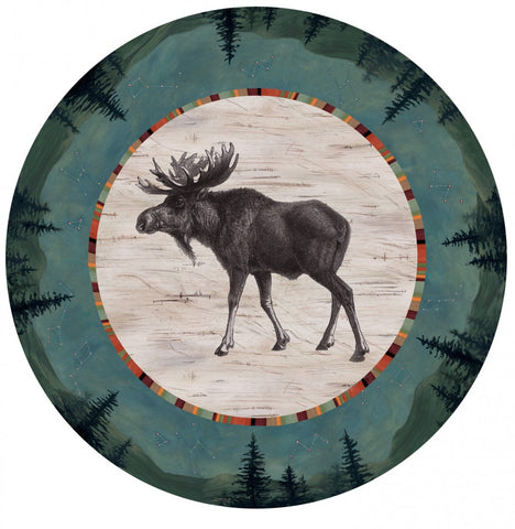 Large Lazy Susan in Midnight Moose - Eclipse Gallery