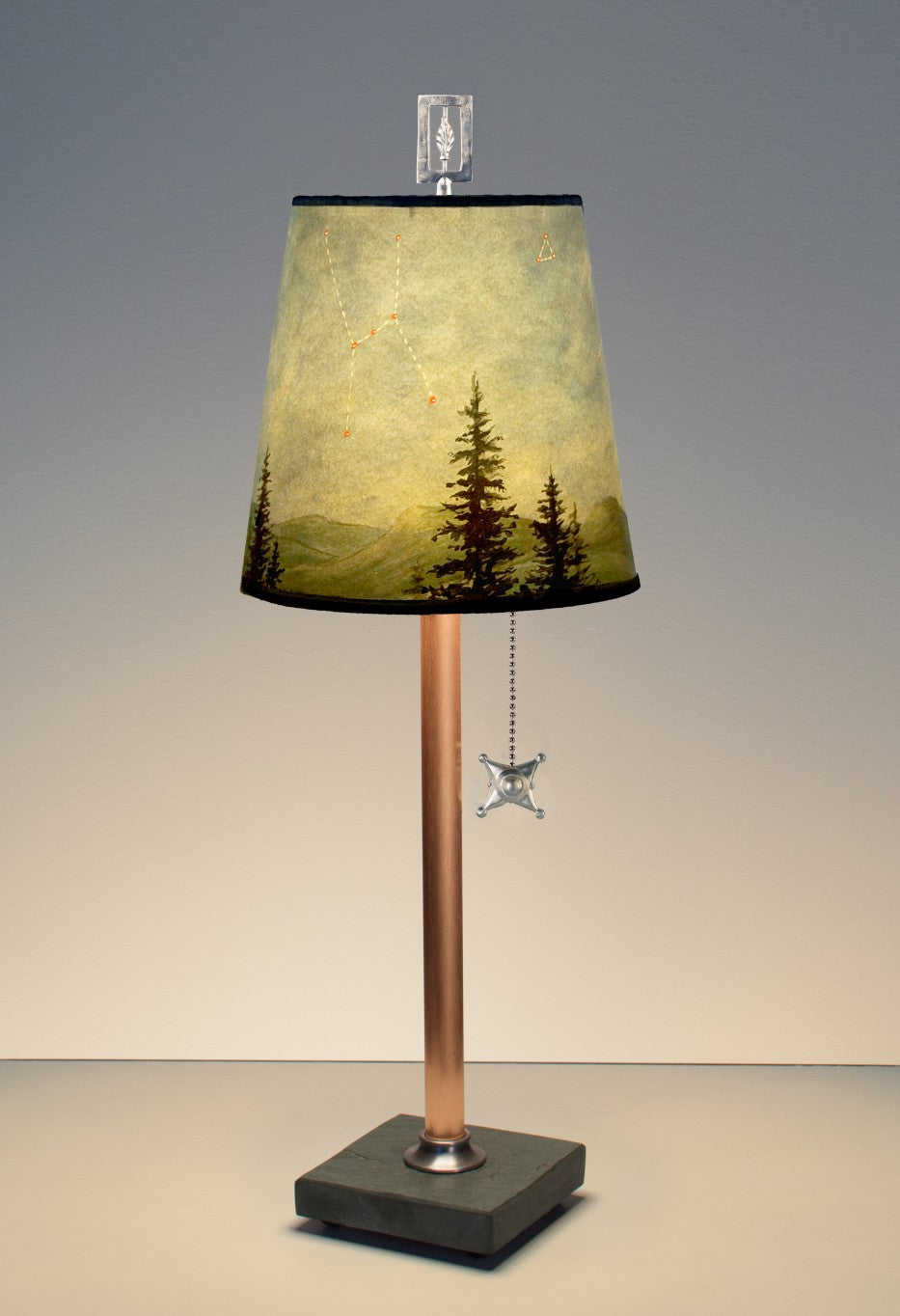 Small Lamp in Midnight Sky