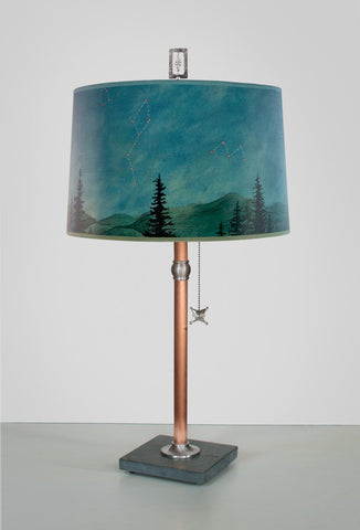 Large Lamp in Midnight Sky