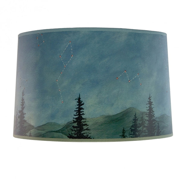 Large Drum Lamp Shade in Midnight Sky - Eclipse Gallery