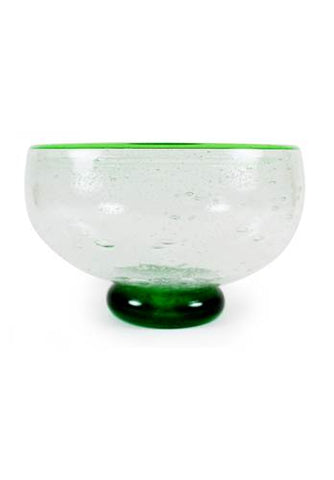 Storm Bowl Green Crackle