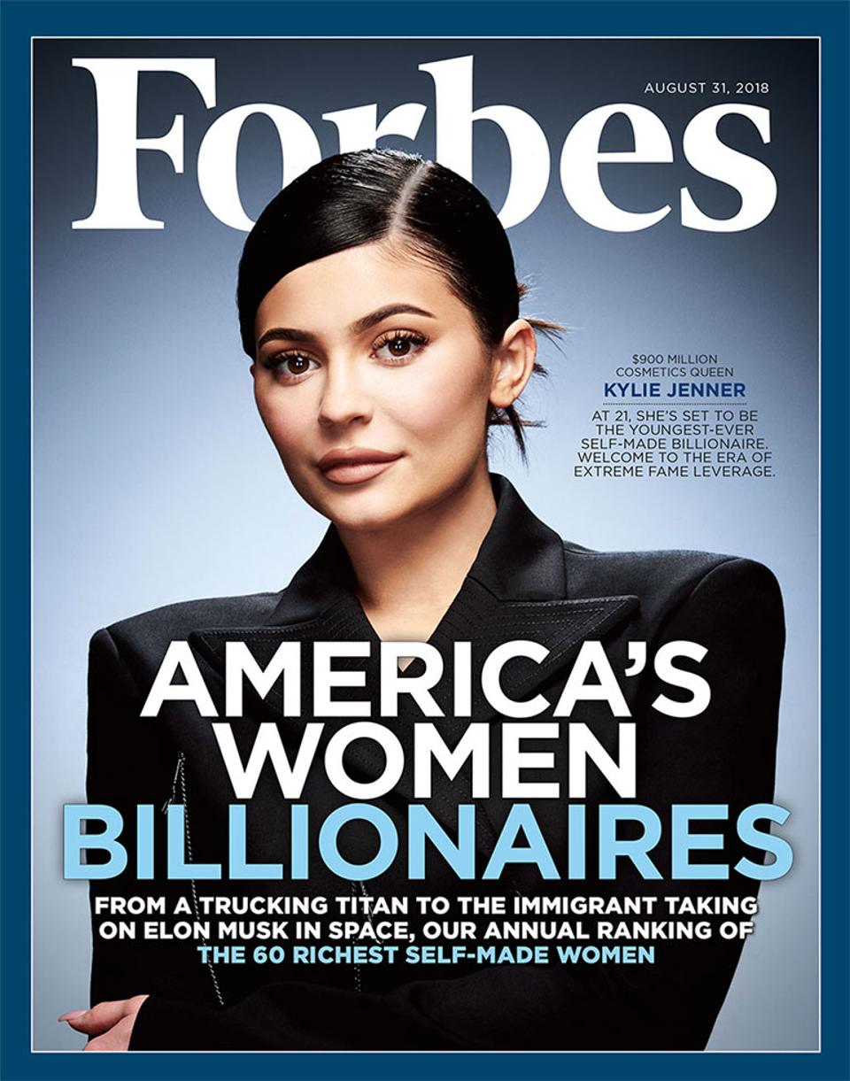 Kylie Jenner Forbes Magazine Billionaire Cover