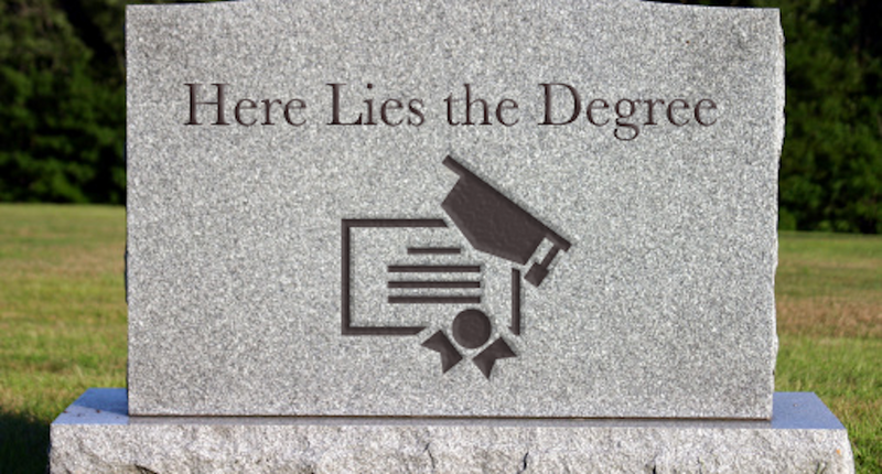 The degree is dead