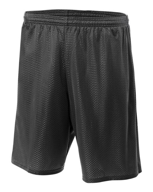 Black Lined Tricot Mesh Gym Shorts- 6th, 7th & 8th GRADE ONLY