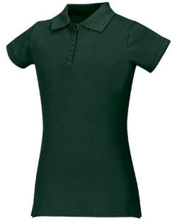 San Jose Catholic Girl's Fitted Hunter Green Polo