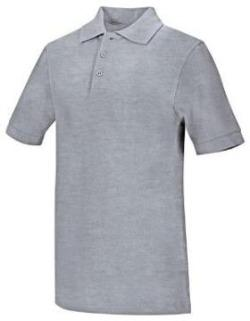 Preschool Heather Grey Short Sleeve Pique Polo