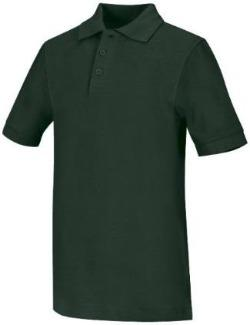 St. Patrick's Boys & Girls Hunter Green Pique Polo with School Logo