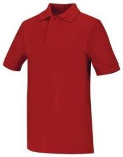 Unisex Red Short Sleeve Pique Polo w/ SH logo. GRADES K-8
