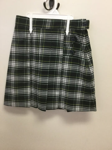 SEAS New Plaid Skirt with Adjustable Waist- K-8th grade only