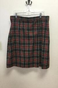 YWLA Plaid Skirt w/Adjustable Waist