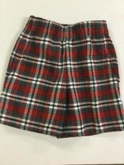 Preschool Plaid Pull-On Shorts.  For Girls in PreK3 & PreK4 ONLY.