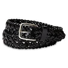 "1"" Black Braided Belt"