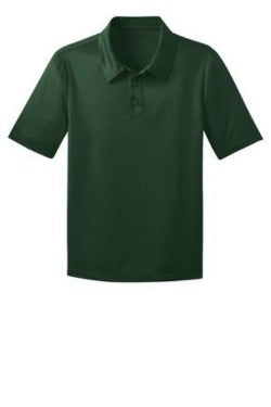 Unisex Hunter Green Dry-Fit Polo with School Logo