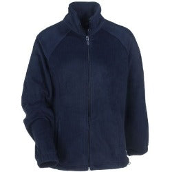 CCA Unisex Navy Fleece Jacket w/Logo- All Grades