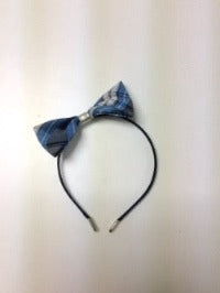 Covered Headband with Medium Bow in ACS school plaid (All Grades)
