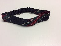 Small Elastic Headband in School Plaid