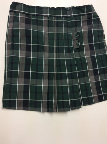 2 Tab Plaid Skort w/Adjustable Waist