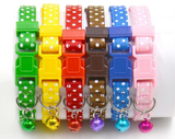 Cat Collars/Puppy ID Collars Polka Dot Set of 6 or Single Collars
