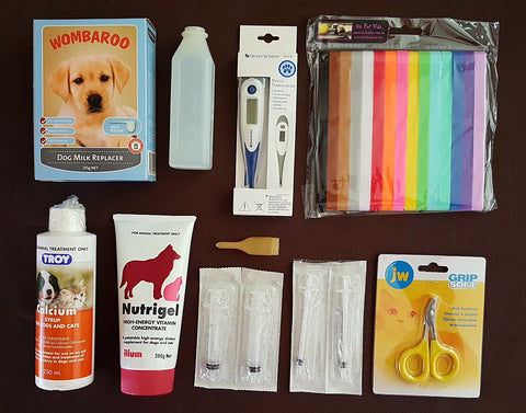 Whelping Starter Pack 2 with Set 15 Velcro Puppy ID Collars