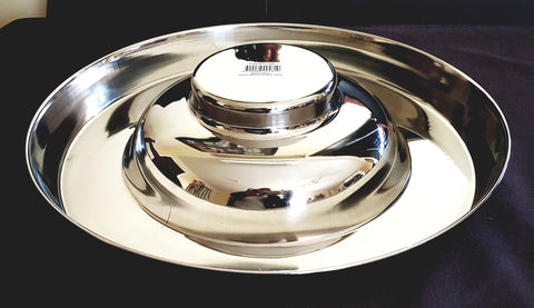 Large Stainless Steel Puppy Feeding Pan Bowl. FREE SHIPPING (Australia only)