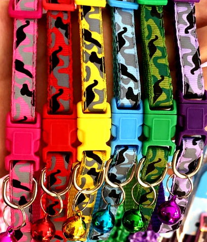 Puppy ID Collars Camouflage Set of 6 or Single Collars from