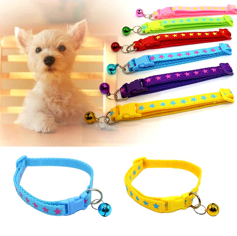 "Cat or Puppy ID Collars ""Stars"" Set of 6 or Single Collars"