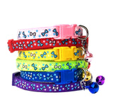 Cat or Puppy ID Collars Bones Set of 6 or Single Collars
